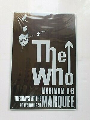 The Who Marguee Metal Sign Plaque Poster British Rock • 6.90£