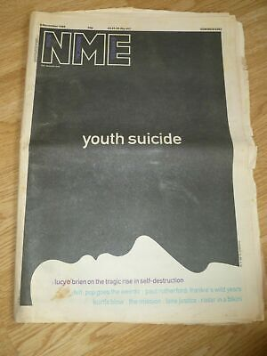 NME Newspaper 8th November 1986 Controversial Cover YOUTH SUICIDE Issue MISSION • 2.99£