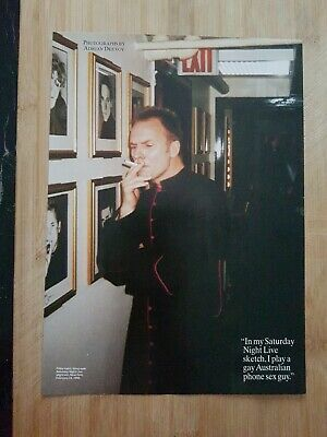 STING Magazine Picture Cutting Poster App 22x30cm THE POLICE • 2.99£