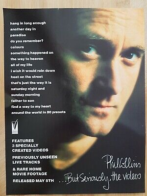 PHIL COLLINS Magazine Print Ad For Album BUT SERIOUSLY THE VIDEO App 22x30cm  • 2.49£