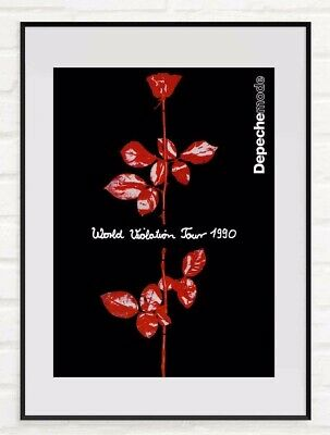 Depeche Mode Art Print Poster - World Violation Tour, 1990 Advert Reproduction • 24.99£