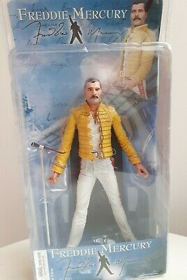 Freddie Mercury Queen 2006 Neca Figure Magic Tour 1986 Wembley Doll Sealed Box • 80£