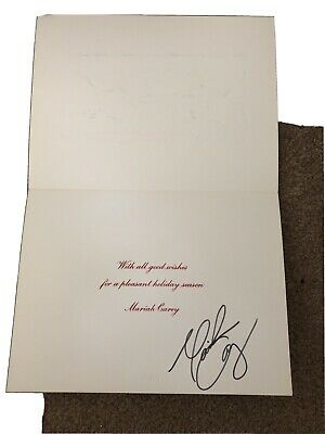 Autographed Mariah Carey Christmas Card SIGNED Unique Collectors Item • 135£