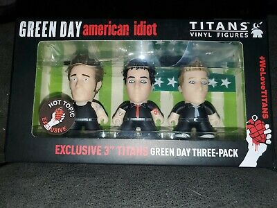 Green Day Band Titans Vinyl Figures Set 3  American Idiot Hot Topic Exclusive • 18.52£