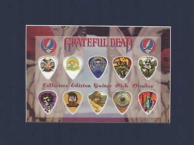 Grateful Dead Matted Picture Guitar Pick Set Collectors Touch Of Grey Gray • 20.71£