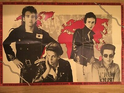 CLASH -  Give 'em Enough Rope    Double Sided CBS PROMO Poster 1978 • 6.50£