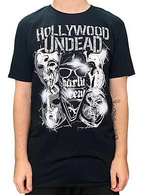 Hollywood Undead Masks Unisex Official T Shirt Brand New Various Sizes • 14.99£