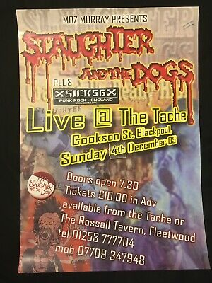 Slaughter & The Dogs  Signed Autographed Promo Poster  Sex Pistols Clash Damned • 50£