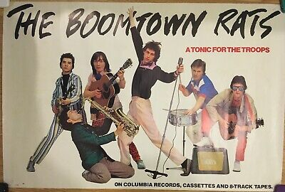 BOOMTOWN RATS - Tonic For The Troops    Original Columbia Promo Poster 1979 • 40£