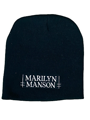 Marilyn Manson Logo Embroidery Official Beanie Hat One Size Fits All Brand New • 9.99£