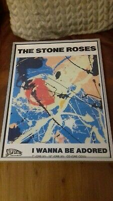 The Stone Roses I Wanna Be Adored Framed Poster A3 Size Ian Brown John Squire... • 15£