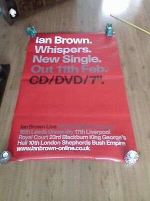 Ian Brown Rare Giant Original Whispers Promo Fly Poster The Stone Roses Oasis  • 26£