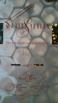 David Sylvian In Praise Of Shamans Tour Poster 'signed' 60cm X 42cm VG Cond • 60£