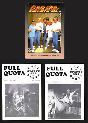 STATUS QUO From The Makers Of And Full Quota Fan Club Fanzines • 10£