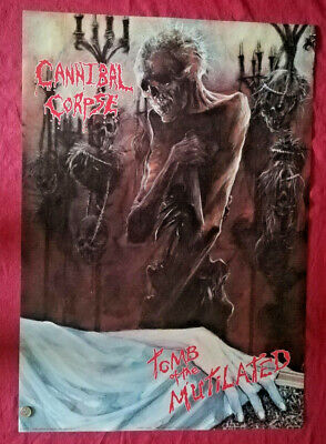 Original Tomb Of The Mutilated Cannibal Corpse Poster 1992 Death Metal Halloween • 79.99£