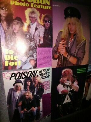 @ Poisen 1980s Rock Posters Pinups Originals As Is Rare To Find! Brett Michael • 11.04£