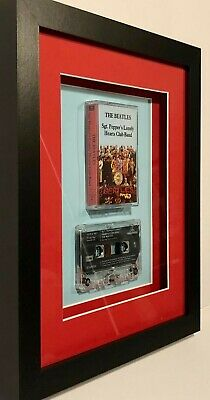 The Beatles - 'Sgt Peppers' Lonely Hearts Club Band' Framed Tape Cassette(8x10) • 40£