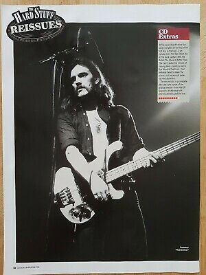 LEMMY MOTORHEAD Magazine Picture Cutting Poster App 22x30cm Reissued In 2009 • 2.99£