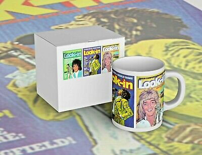Colourful Rod Stewart Look-In Mug - New In Picture Box - Free P+P • 7.99£