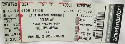 Coldplay - Vintage 2012 Unused Whole Full Concert Ticket • 14.73£