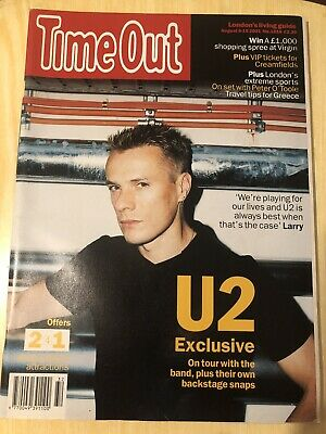 Time Out Magazine U2 August 8 15 2001 No. 1616 • 0.99£