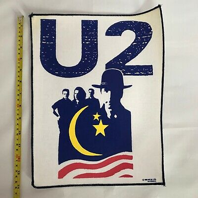 U2 Rare UK Vintage Back Patch From 1990 • 11.99£