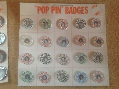Rare Unused Sheet Bay City Rollers Official Genuine Pop Pin Badges C 1974 Sealed • 125£