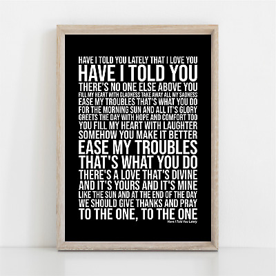 Rod Stewart HAVE I TOLD YOU LATELY Song Lyrics Poster Print Wall Art • 11.95£