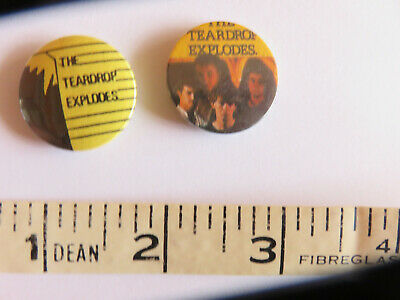 Two Vintage Teardrop Explodes Badge • 5£