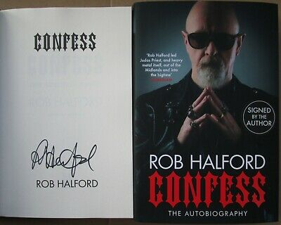 Rob Halford-Signed Book-Autobiography-CONFESS-Judas Priest. • 24.99£