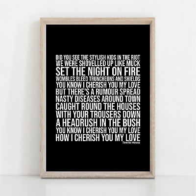 The Libertines Time For Heroes Song Lyrics Poster Print Wall Art • 11.95£