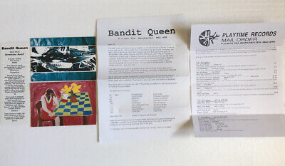Bandit Queen 2 Promo Postcards (1 Signed) Decal News Letter 1990's UK Indie Rock • 14£
