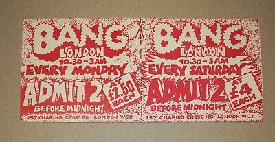 Bang London 157 Charing Cross Rd 1989 Rave Flyer Rare Mint Condition  • 3£