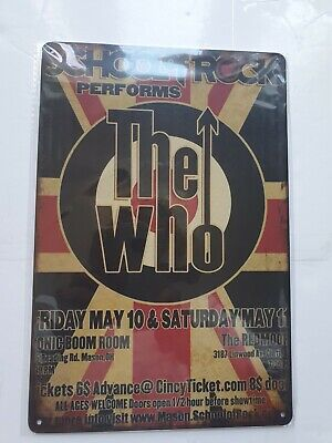 The Who Union Jack Metal Sign Plaque Poster British Rock • 7£