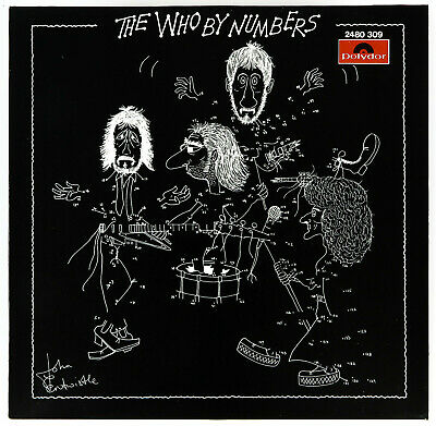 The Who - By Numbers - 1975 *AUSTRIA* Pressing Unique *BLACK COVER* EX+ • 215.99£