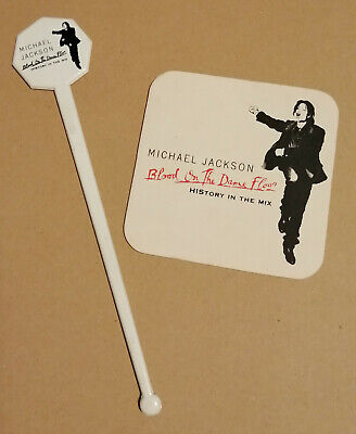 Michael Jackson 1997 Drink Stirrer & Coaster For Blood On The Dance Floor • 30£