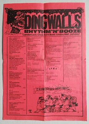 Dingwalls Rhythm And Booze 1983 Programme Flyer A4 • 1.50£