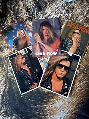 Skid Row Sebastian Bach Postcards & Badge • 4£