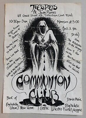 Communion Club At Jean Pierres 49 Greek Street Soho 1984 Club Flyer • 2.20£
