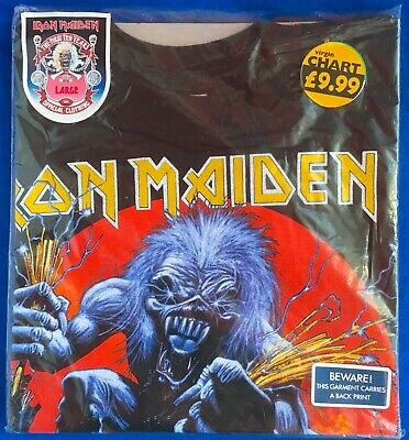 Iron Maiden First Ten Years T-shirt Vintage Rock Metal, Still Sealed, Large Size • 56.89£
