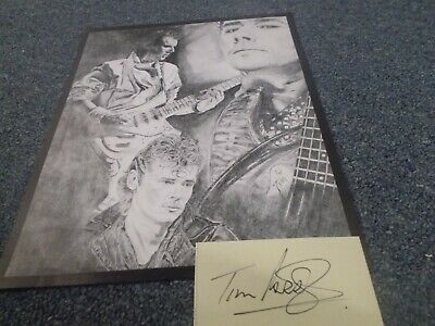 Inxs    Tim Farriss 8X10 Drawn Photo And Autograph Card Used • 6.62£
