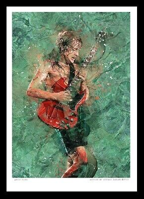 Angus Young - Ac/dc - A3 Fine Art Print • 13£
