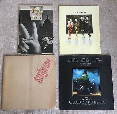 Collection Of The Who Tour Programmes • 45£