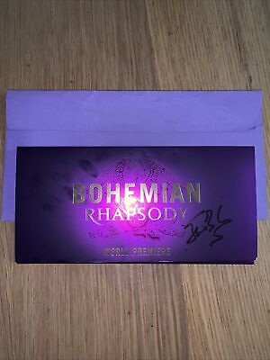 Bohemian Rhapsody World Premiere Pass And Signed Wallet By Roger Taylor • 250£