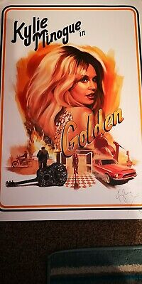 Kylie Minogue Golden Tour Signed Lithograph 91/250 Rare Limited  • 199.99£