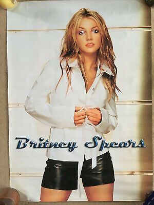 Britney Spears 2 Vintage Posters From Early 2000's (Circa 2000,2001) Mint Rare • 0.99£