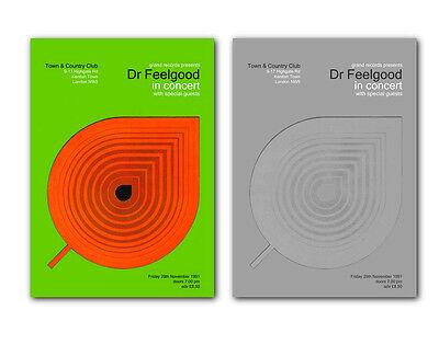 ❤ Dr Feelgood ❤ A Pair Of Modernist Poster Art Prints #2 • 19.95£