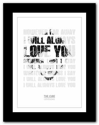 ❤ THE CURE Lovesong #2 ❤ Song Lyrics Typography Poster Art Print - A1 A2 A3  A4 • 9.95£