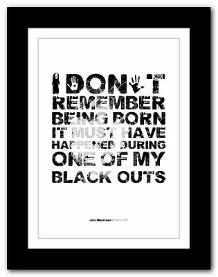 Jim Morrison ❤ Typography Quote Poster Art Limited Edition Print The Doors #14 • 16.95£