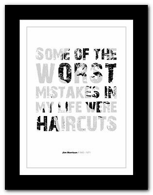 Jim Morrison ❤ Typography Quote Poster Art Limited Edition Print The Doors #23 • 16.95£